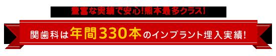 年間のインプラント埋入実績200本!